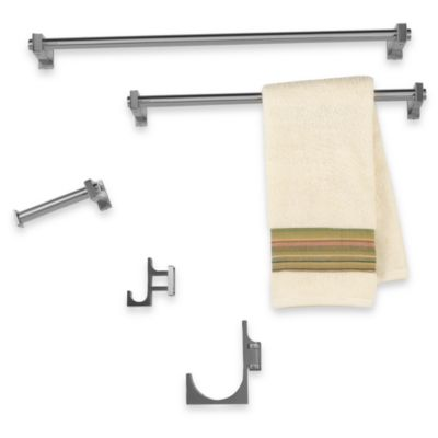 Frame Satin Nickel Pivoting Towel Hook