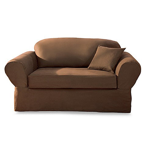 Buy Sure Fit 174 Twill Supreme 2 Piece Loveseat Slipcover In