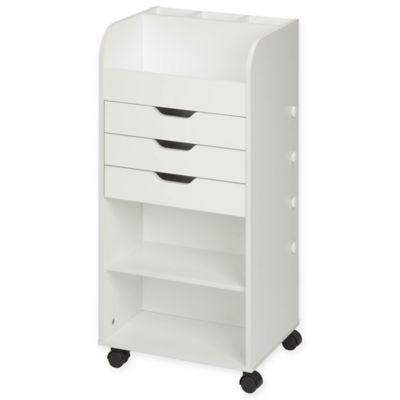 Honey-Can-Do® Rolling Craft Storage Cart with 3 Drawers in White