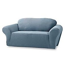 Sure Fit® Stretch Pique Slipcover in Federal Blue