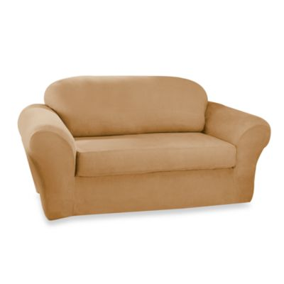 Stretch SuedeT-Cushion Loveseat Slipcover by Sure Fit®