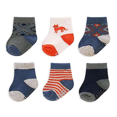 carter s 6 Pack Multicolor Fox Socks BABY