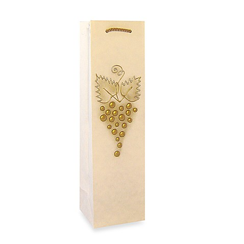 Bella Vita™ Liquid Gold Grape Cluster Paper Wine Bottle Tote