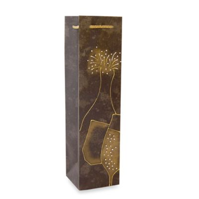 Bella Vita™ Liquid Gold Champagne Paper Wine Bottle Tote