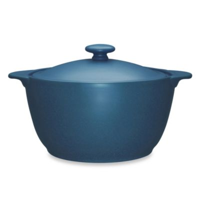 Noritake® Colorwave Covered Casserole Dish in Blue