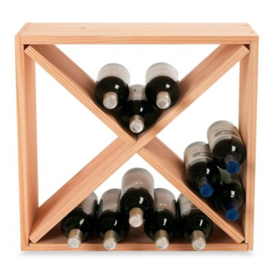 Wine Enthusiast 24-Bottle Wooden Wine Rack Cube