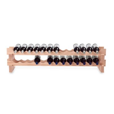 Wine Enthusiast 26-Bottle Pine Wine Rack