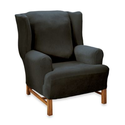 Black Stretch Chair Slipcover