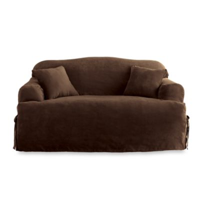Sure Fit® Soft Suede Loveseat Slipcover