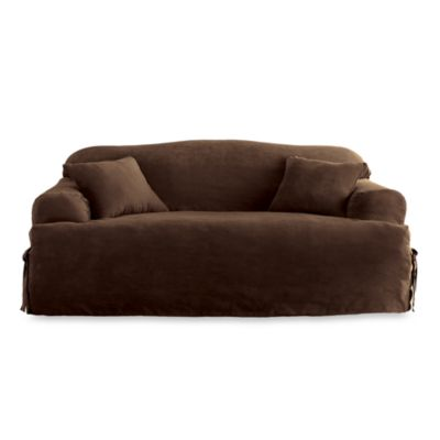 Sure Fit® Soft Suede T-Cushion Sofa Slipcover