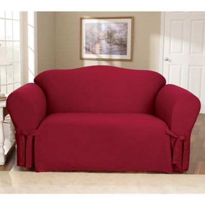 Cotton Duck Claret Loveseat Slipcover by Sure Fit®