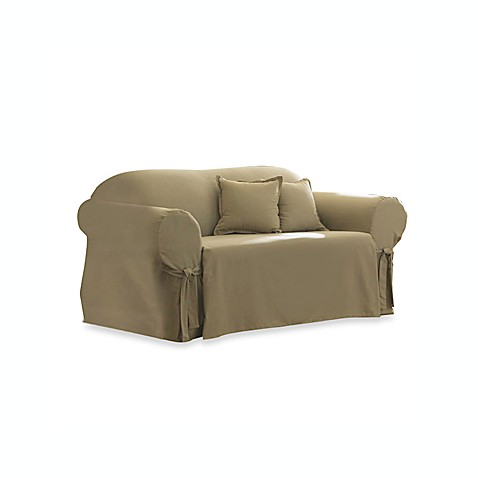 Cotton Linen Duck Loveseat Slipcover By Sure Fit Bed Bath Beyond