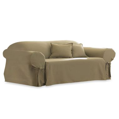 Cotton Linen Duck Sofa Slipcover by Sure Fit®