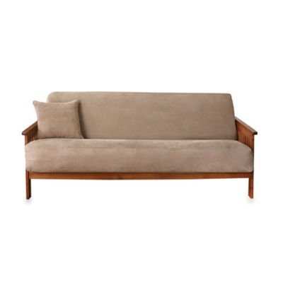 Sure Fit® Soft Suede Futon Slipcover in Burgundy
