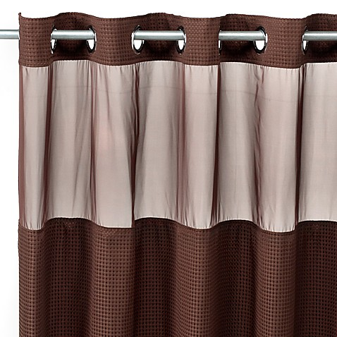Hookless® Waffle Fabric Window and Shower Curtain in Chocolate