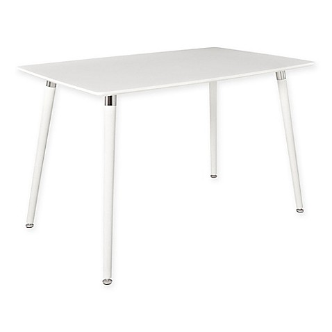 Modway Lode Dining Table In White Bed Bath Amp Beyond