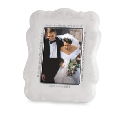 Lenox® Opal Innocence™ Love is Patient 5-Inch x 7-Inch Frame