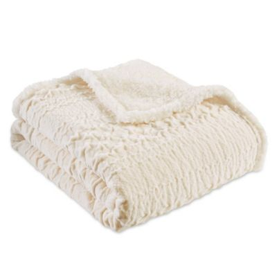 Madison Park Camilla Throw Blanket in Ivory