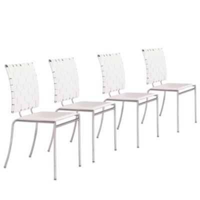 Zuo® Modern Criss Cross Chair (Set of 4) in White