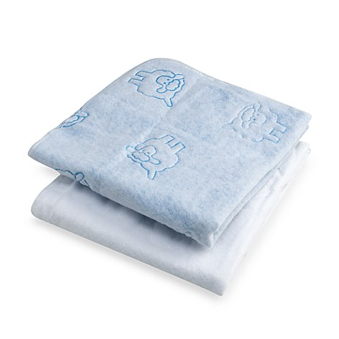 bb Basics Multi-Use Pads (Set of 2) in White/Blue
