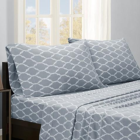 buy premier comfort ogee microfleece queen sheet set in