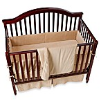 Organic Cotton Velour 4-Piece Crib Set in Mocha