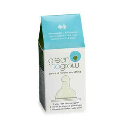 Green to Grow™ Wide-Neck Intermediate Silicone Nipple, BPA Free
