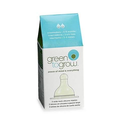 Green to Grow® Wide-Neck Intermediate Silicone Nipple
