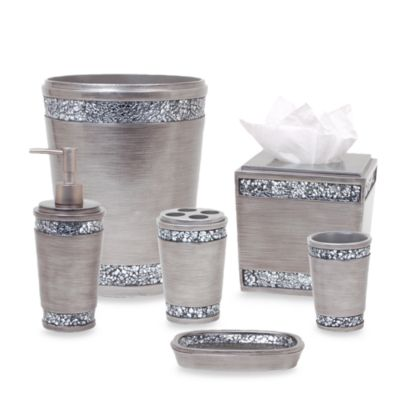 Omni Waste Basket in Pewter