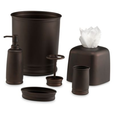 InterDesign® Cameo Wastebasket in Bronze