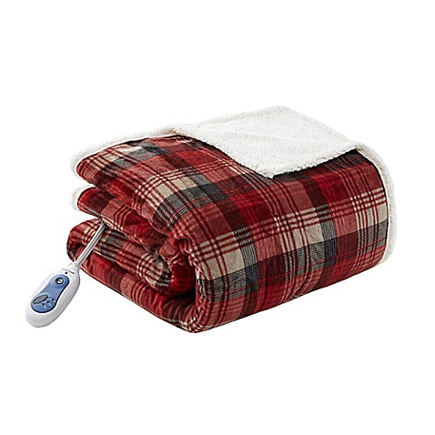 Buy Woolrich Tasha Mink Berber Heated Throw In Red From