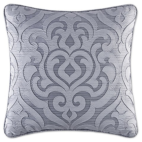J. Queen New York Harrison 20-Inch Square Throw Pillow in Chrome - Bed Bath & Beyond