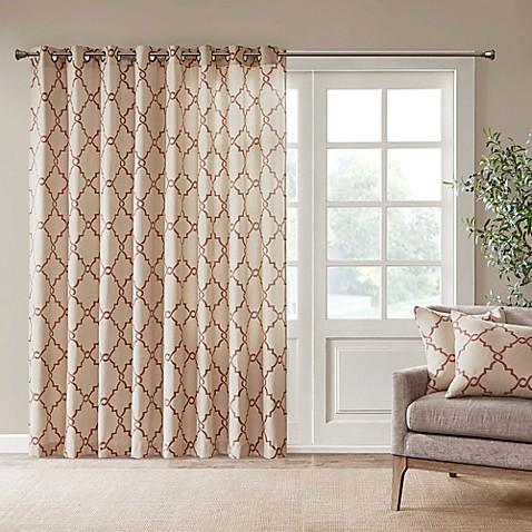 Buy Madison Park Saratoga 84 Inch Grommet Top Patio Door Window Curtain Panel In Beige Spice