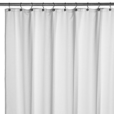Hotel Solid Weave Shower Liner in White