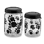 Paw Print Canister With Lid