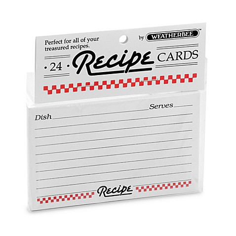 3-Inch x 5-Inch 24-Pack Recipe Cards