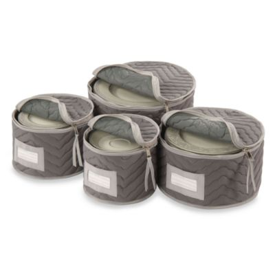 Microfiber Plate Storage Chests (Set of 4)