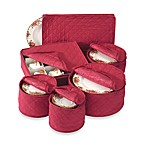 Quilted Cotton China Storage Chests (Set of 6)