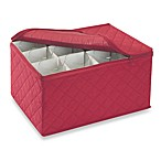 Quilted Cotton Stemware Storage Chest