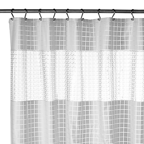 H2O White EVA Vinyl Shower Curtain Bed Bath Beyond