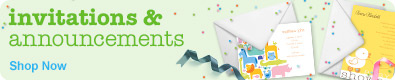 invitations & announcements shop now