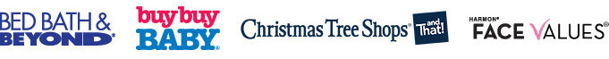 Bed Bath & Beyond, buy buy Baby, Christmas Tree Shops and Face Values Logo
