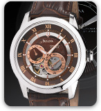 Brown Bulova Watch