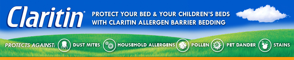 Claritin Allergen Barrier Bedding
