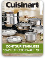 cuisinart contour stainless 13 piece cookware set