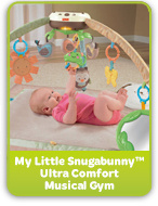 my little snugabunny ultra comfort mustical gym