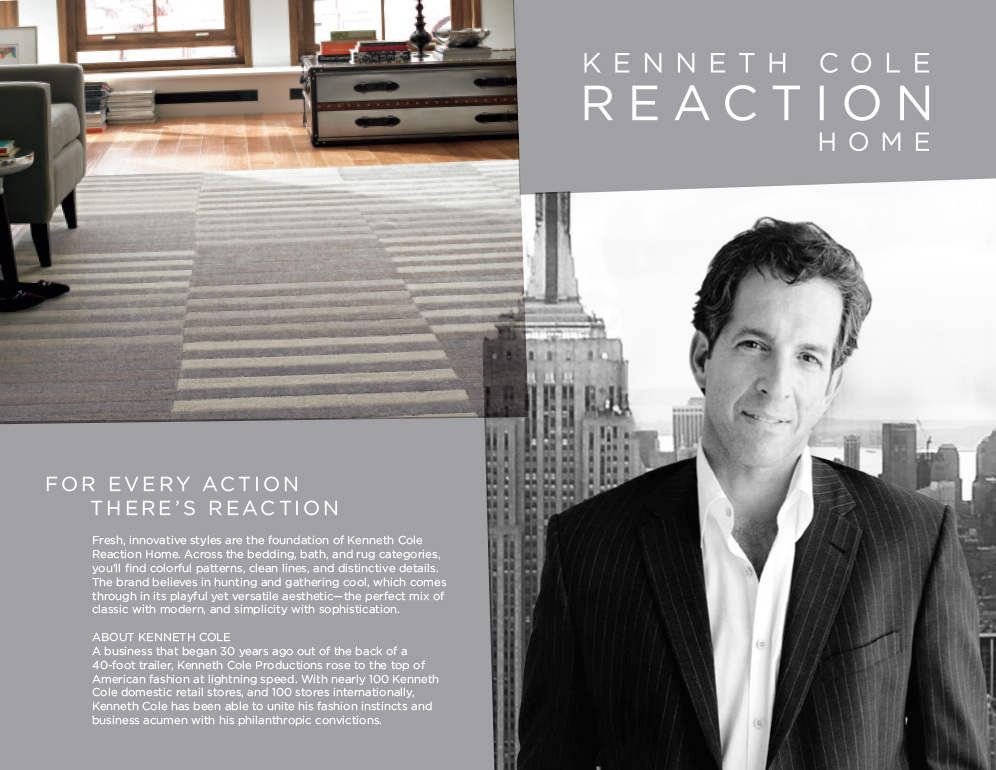 Kenneth Cole Reaction. For every action, there's reaction.