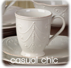 Casual Chic White Tea Cup