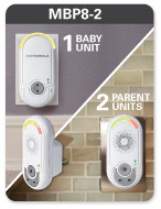 MBP8-2 1 Baby Unit 2 Parent Units
