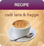 Recipes for Caffe Latte and Frappe